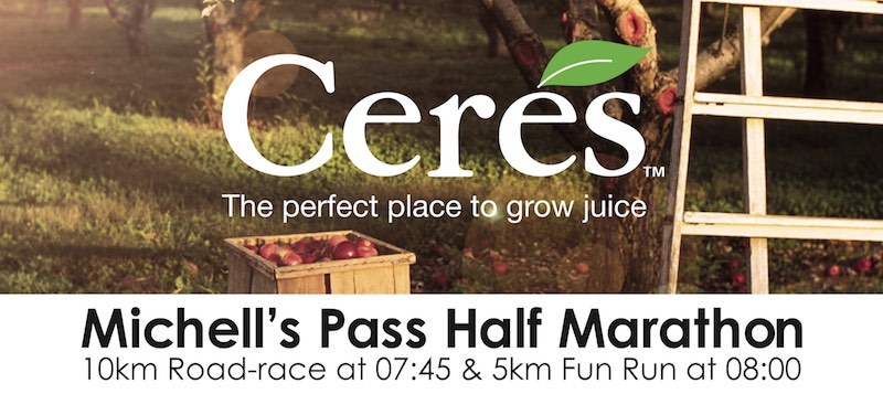 Ceres Half Marathon 15 Sept